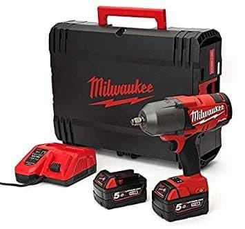 Акумулаторен ударен гайковерт Milwaukee M18FHIWF12-502X/18 V, 1356 Nm, безчетков мотор/