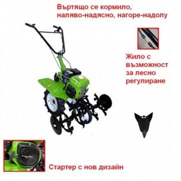 Мотокултиватор GARDENIA - B-4 - 5,23 kW, 500-1000 мм. / Чугун /