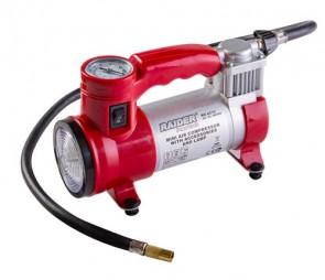 Компресор  RAIDER 12V DC метален 180W 35L/min с аксесоари и лампа RD-AC13