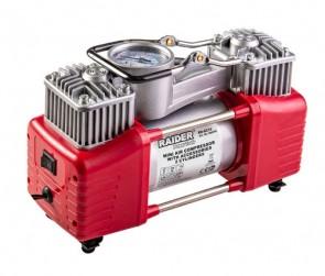 Компресор  RAIDER 12V DC метален 300W 70L/min 2 цилиндъра с аксесоари RD-AC14