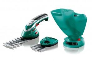 Комплект акумулаторна ножица за храсти и акумулаторна ножица за трева Bosch Isio 3 / 3,6 V , 1,5 Ah /