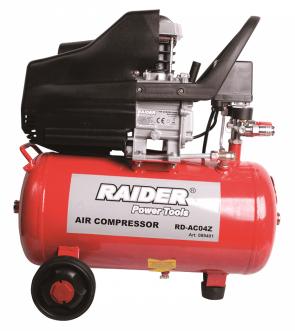 Компресор RAIDER - RD-AC04O - 1500 W, 2800 оборота, 0,8 MPa, 195/110 л./мин1, 24 л.