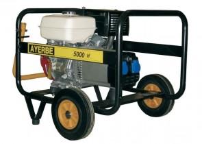 Монофазен бензинов генератор AYERBE - 5000 H MN Electrique - 230 V, 4,0 kW, 3000 оборота, 6 л. / електрическо стартиране /