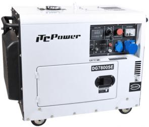 Мотогенератор дизелов ITC POWER - DG 7800SE - 6,3 kW, 28 A, 498 см3, 17/1,65 л.