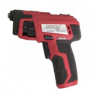 Отвертка акумулаторна револверна - RAIDER - RDP-CSCL02 - Li-ion, 3,6 V, 4 Nm, 3600 оборота, 1500 mAh