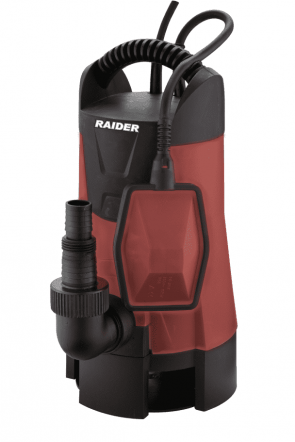 Потопяема помпа за мръсна вода RAIDER - RD-WP40 - 550 W, 10000 л./ч., 7/7 м.