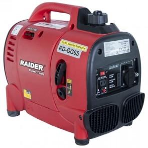 Бензинов инверторен генератор за ток RAIDER - RD-GG05 - 1,0 kW, 12 V, 53,5 см3, 5500 оборота, 0,325 л./ч., 2,3 л.