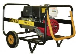 Монофазен бензинов генератор AYERBE - 8000 H MN - 230 V, 6,4 kW, 3000 оборота, 6,5 л. / ръчно стартиране /