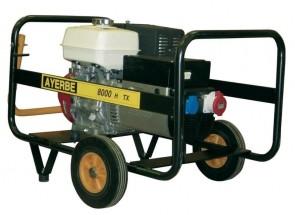 Трифазен бензинов генератор AYERBE - 8000 H TX - 400 V, 6,4 kW, 3000 оборота, 6,5 л. / ръчно стартиране /