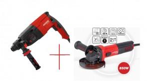 Индустриален перфоратор RAIDER Industrial RDI-HD50 / 850w, 3.5J / + Ъглошлайф 125mm  850W RDI-AG56