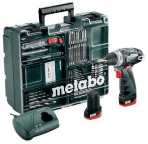 Акумулаторна бормашина METABO - POWERMAXX BS BASIC SET - Li-Power, 10,8 V, 2,0 Ah, 0-360/1400 оборота, 34/17 Nm / 2x2.0 Ah /
