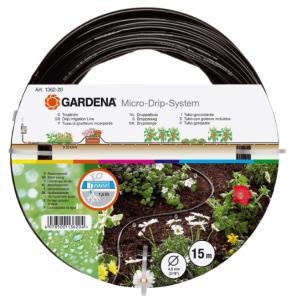 "Градински маркуч за капково напояване с капкообразуватели нагнетателен GARDENA - Micro-Drip-System - 4,6 мм.(3/16""), LDPE, 15 м. / 01362-20 /"