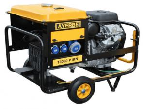 Монофазен бензинов генератор AYERBE - 13000 V MN - 230 V, 10 kW, 3000 оборота, 25 л. / електрическо стартиране /
