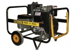 Трифазен дизелов генератор AYERBE - 10000 D ТХ - 400 V, 8,0 kW, 3000 оборота, 5 л. / електрическо стартиране /