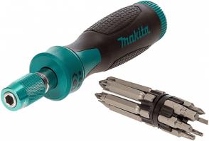 Отвертка-държач магнитна и накрайници комплект MAKITA - P-90071 - SB, PH, PZ, TX / 13 бр. /