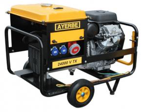 Трифазен бензинов генератор AYERBE - 24000 V TX - 400 V, 19,2 kW, 3000 оборота, 25 л. / електрически старт /