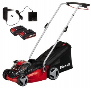 Акумулаторна косачка EINHELL - GE-CM 33 Li Kit Power X-Change - 2x18 V, Li-Ion, 2.0 Ah, 33 см., 30 л.