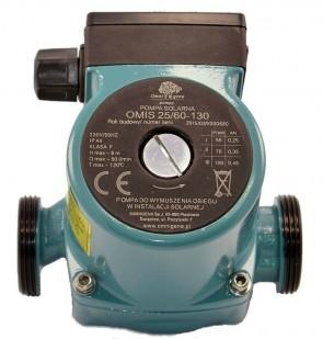 """Циркулационна помпа за питейна вода AquaTecnica - Omis 25-60/130 - 55/70/100 W, 6 м., 3 м3./ч., 1"""" / без гайки /"""