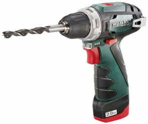 Акумулаторна бормашина METABO - POWERMAXX BS BASIC - Li-ion, 10,8 V, 2,0 Ah, 0-360/1400 оборота 34 Nm / 2x2,0 Ah /