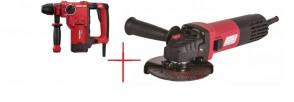 Индустриален Перфоратор Raider RDI-HD49 / SDS-Plus, 850W, 3.3 J / + Ъглошлайф 125mm 1050W RDI-AG47