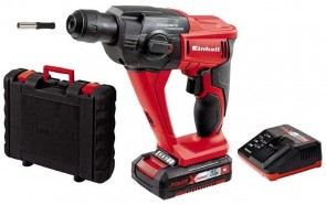 Акумулаторен перфоратор EINHELL - TE-HD 18 Li Kit Power X-Change - Li-ion, 18 V, 1,5 Ah, 1100 оборота, 0-5700 удара, 1,2 J, 9.9 Nm