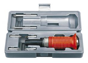 Ударна отвертка със сменяеми накрайници комплект FERVI - 0083 - 165x42 мм. / 6 части /