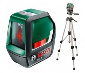 Лазерен нивелир BOSCH - PLL 2 SET - 640 nm, ± 0.5 мм./м., 10 м. / Статив /