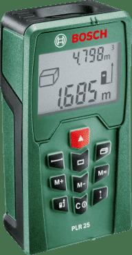 Дигитален лазерен далекомер BOSCH - PLR 25 - 635 nm, 0.05-25 м.