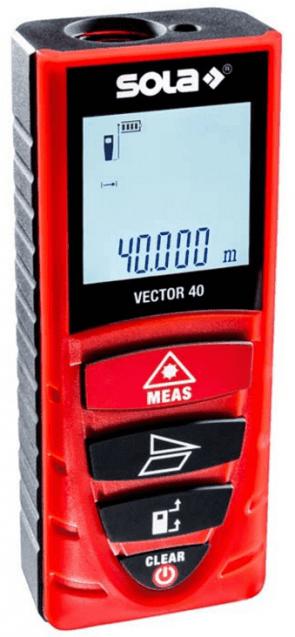 Лазерна ролетка SOLA - Vector 40 - 650 nm, 0,2-40 м., 1,5 мм./1 м.