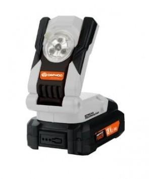 """Акумулаторна LED лампа DAEWOO - DALL18-1 - """"UNI-BAT"""" 20 V, Li-Ion / Без батерия и зарядно устройство /"""