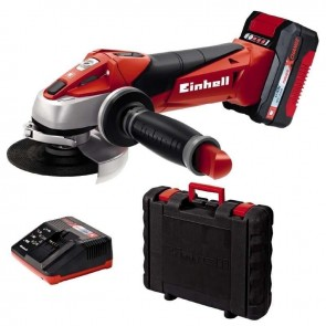 Акумулаторен ъглошлайф EINHELL - TE-AG 18 Li Kit Power X-Change - Li-ion, 18 V, 3,0 Ah, 8500 оборота, ф 115 мм.