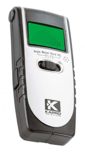 Детектор за метал, дърво и кабели KAPRO - 389 - 9 V, 0-50 мм.
