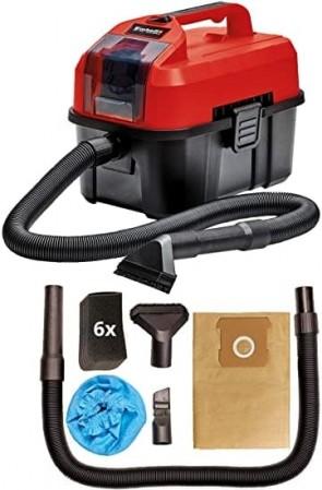 Акумулаторна прахосмукачка за сухо и мокро почистване EINHELL - TE-VC 18/10 Li - Solo Power X-Change - 18 V, 900 mbar, 10 л. / Без батерия и зарядно устройство /