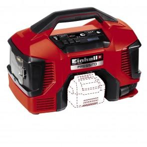 Хибриден компресор EINHELL - TE-AC 18/11 LiAC PRESSITO - Solo Power X-Change - 18 V, 90 W, Li-Ion, 21 л./мин1, 11 bar / Без батерия и зарядно устройство /