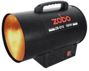 Газов калорифер ZOBO - ZB-G15 - 15 kW, 300 м3/ч., 300 mbar, 1070 мл./ч.