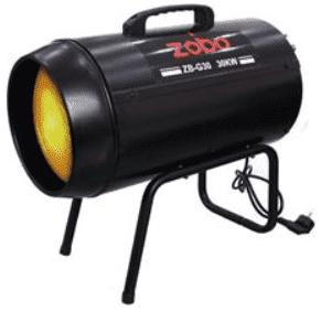Газов калорифер ZOBO - ZB-G30 - 30 kW, 500 м3/ч., 700 mbar, 2130 мл./ч.