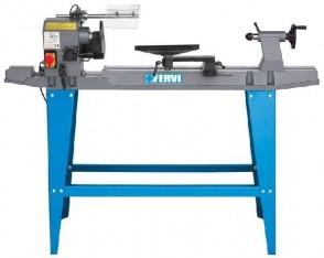 Дървообработващ струг FERVI - 0751 - 370 W, 500-2000 оборота, 900x155 мм.