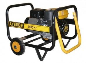 Монофазен бензинов генератор AYERBE - 3800 KT MN - 230 V, 3,0 kW, 3000 оборота, 3,6 л. / ръчно стартиране /
