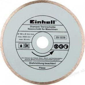 Диамантен диск за машина за рязане на фаянс и теракот EINHELL - TC-TC 618 и TC-TC 800 - Ø 180x25,4 мм. / 4301170 /