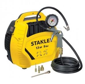 Електрически компресор STANLEY - 8215190 - 1,1 kW, 180 л./мин1, 3400 оборота, 8 bar+Aксесоари