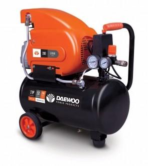Електрически бутален компресор DAEWOO - DAC24D - 1.5 kW, 195 л./мин1, 2850 оборота, 24 л., 8 bar