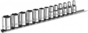 "Вложки комплект TONA EXPERT - E194675 - 6-стен, 1/4"", 4,0-14 мм. / 13 бр. /"
