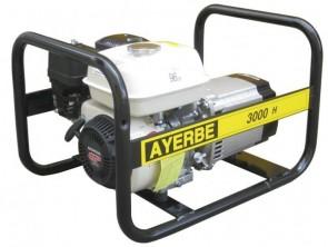 Монофазен бензинов генератор AYERBE - 3000 H MN - 230 V 2,4 kW, 3000 оборота, 3,6 л. / ръчно стартиране /