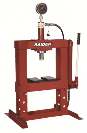 Настолна хидравлична преса с манометър RAIDER - RD-HP02 - 10 т.