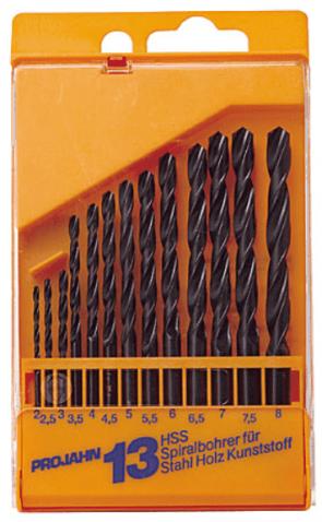 Свредла за метал PROJAHN - 67005 - HSS-R, 2,0-8,0 мм., цилиндрична, Eco / 13 бр. /