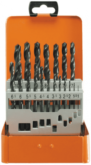 Свредла за метал PROJAHN - 60003 - HSS-R, 1,0-10 мм., цилиндрична, Basic / 19 бр. /