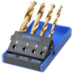 Свредла за дърво DREMEL - 636 - 3,0-6,0 мм., цилиндрична / 4 бр. /