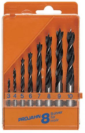 Свредла за дърво PROJAHN - 67040 - CV, 3,0-10 мм., цилиндрична, Eco / 8 бр. /