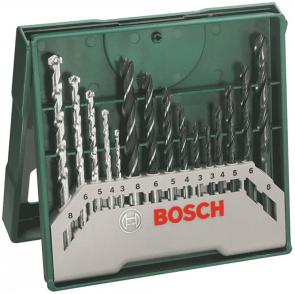 Свредла за дърво, метал и камък BOSCH - 2607019675 - 3,0-8,0 мм., цилиндрична / 15 бр. Mini-X-Line /