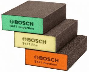 Гъби с шкурка за шлайфане BOSCH - 2608621253 - M, F, SF, 69x97x26 мм. / 3 бр. Sanding sponges /